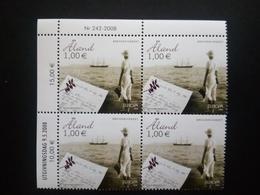 ALAND MI-NR. 294 ** 4er BLOCK EUROPA 2008 - BRIEFESCHREIBEN - 2008