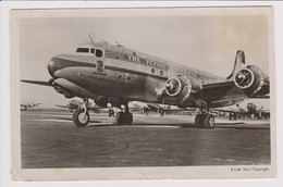 Vintage Rppc KLM The Flying Dutchman K.L.M. Douglas Dc-4 & Dc-3 @ Schiphol Airport - 1919-1938: Entre Guerres