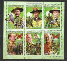 Guinée Scoutisme  YT**  2150 KD/KJ  Baden Powell Oiseaux Papillons - Padvinderij