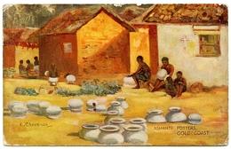 ARTIST : CHEESMAN / ASHANTI POTTERS - GOLD COAST (TUCK'S OILETTE) / POSTMARK - GOLD COAST - Ghana - Gold Coast