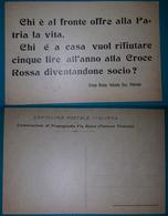 Cartolina Croce Rossa Italiana Sezione Palermo. Non Viaggiata - Croix-Rouge