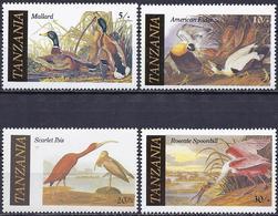 Tanzania 1986 - Various Birds ( Mi 315/18 - YT 277/80 )  MNH** Complete Issue - Tanzanie (1964-...)
