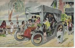 CPA FANTAISIE - Illustration De Grosse Voiture Avec Pleins D'enfants - Scènes & Paysages