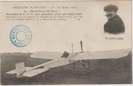 """DAV :  Avion : Le """" Dentelle  Du  Puy """" Pioté Par  Gaulard , Monoplan - Avions"""