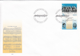 Estonia 1999 FDC Sc #364 3.60k Estonian National Anthem, Orchestra - Estonie