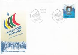Estonia 2001 FDC Sc #416 6.50k Kalev Sports Association Centenary - Estonie