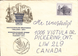 Estonia To Canada 1994 Sc #252 4k Kuressaare Castle Cachet 1971 Tallinn Ann With Russian Cancel - Estonie