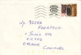 Estonia To Canada 1999 Sc #343 4.80k  Lubeck Charter, #299 20s Arms Posted Rakvere - Estonie