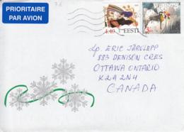 Estonia To Canada 2003 Sc #478 3.60k Christmas, #476 4.40k Aksi Costume Posted Tallinn - Estonie