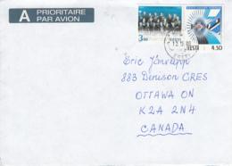 Estonia To Canada 2000 Sc #364 3.60k Orchestra Anthem, #352 4.50k Freedom Cross Posted Saue - Estonie