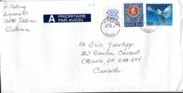 Estonia To Canada 2001 Sc #430 6.50k Dove Christmas #267 2k Festival Emblem, #216 50s Arms Posted Tallinn - Estonie