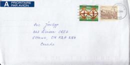 Estonia To Canada 2000 Sc #406 6k Christmas #245 2k Tallinn Castle Posted Tallinn - Estonie