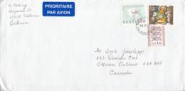 Estonia To Canada 2003 Sc #479 6k Christmas, #274 1k EUROPA, #375 1k Lions - Estonie