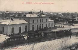 CPA ROMANS - La Gare Et La Vessette Sous La Neige - Romans Sur Isere