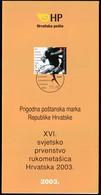 Croatia 2003 / 16th Women's World Handball Championship / Prospectus, Leaflet, Brochure - Kroatien