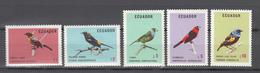 Ecuador 1973,5V In Set.birds,vogels,vögel,oiseaux,pajaros,uccelli,aves,MNH/Postfris(A3704) - Parrots
