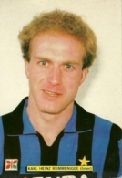 Cartolina Karl Heinz Rummenigge-Inter - Calcio