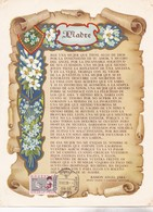 MADRE, POR RAMON ANGLE JARA-FDC 1959 LA PLATA, ARGENTINA, SHEET GRAND FORMAT - BLEUP - Mother's Day