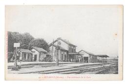 (23225-51) Sezanne - Vue Extérieure De La Gare - Sezanne