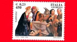 Nuovo - MNH - ITALIA - 2000 - Giubileo, Vita Di Gesù - Affresco Natività - Ghirlandaio - 450 L. - 0,23 - 1946-.. République