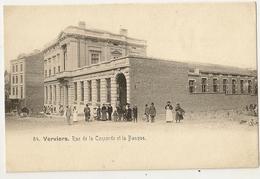 106 - 54 - Verviers - Rue De La Concorde Et La Banque - Verviers