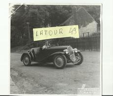 Photo Voiture Traction Decapotable  12 X 12 Cm Photo Harcourt Paris Avec Dans La  Voiture  Artiste De Cinema - Non Classés