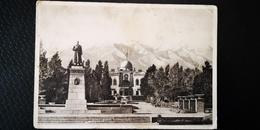 Kyrgyzstan, Bishkek Frunze Stalin Monument  - OLD USSR PC  1947 - Kirghizistan