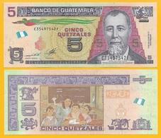 Guatemala 5 Quetzales P-new 2014 UNC - Guatemala