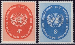 United Nations 1958, U N Seal, Sc#63-64, MNH - Ungebraucht