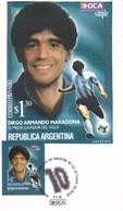 DIEGO ARMANDO MARADONA-FDC 2002 ARGENTINE - BLEUP - Fútbol