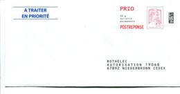 POSTREPONSE PRIO ROTHELEC : Lot 151567 - Entiers Postaux