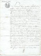 Acte Notarié - 23 Novembre 1814 Bar Le Duc MEUSE  Beaux Cachets - Unclassified