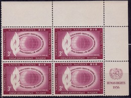United Nations 1956, Flame And Globe, 3c, Sc#47, MNH - New York -  VN Hauptquartier