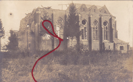 (02) - Achery Kirche Carte Photo Allemande Feldpost - Other Municipalities