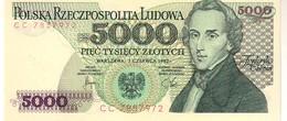 Poland P.150 5000 Zlotych 1982 Unc - Polonia