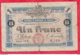 1 Franc  Chambre De Commerce De Cognac   Dans L 'état--(176) - Chambre De Commerce