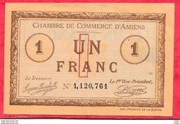 1 Franc Chambre De Commerce D'Amiens 1915  Dans L 'état (181) - Chambre De Commerce