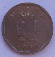 Malta 5 Cents 1991 - Malte