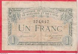 1 Francs Chambre De Commerce De Beauvais Dans L 'état (184) - Chambre De Commerce