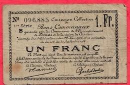 1 Franc Bons Communaux Douai Et Carvin  Dans L 'état (185) - Bons & Nécessité
