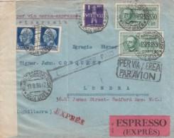 Italy Cover Censor 1938 - 1900-44 Vittorio Emanuele III