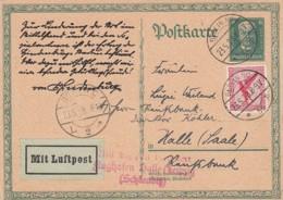 Deutsches Reich Luftpost Postkarte 1928 - Deutschland
