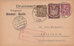 Deutsches Reich Luftpost Postkarte 1923 - Briefe U. Dokumente
