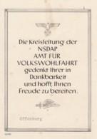 Deutsches Reich Gedenkblatt Propaganda 1939 - Deutschland