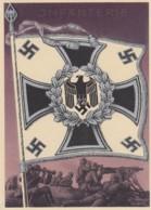 Deutsches Reich Postkarte Propaganda 1938  Fahne Infantarie - Deutschland