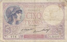 Billet 5 F Violet Du 8-2-1928 FAY 3.12 Alph. G.32101 - 1871-1952 Circulated During XXth