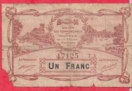 1 Franc    Ville De Nantes   Dans L 'état (192) - Bons & Nécessité