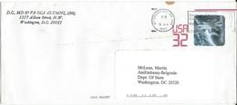 U.S. Letter Via U.S. Embassy From Yugoslavia 1997 - Hologram Stamps : SPACE HOLOGRAMME USA Postal STATIONERY - Etats-Unis