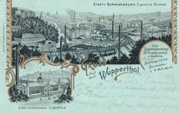 Gruss Aus Wupperthal - Elektricitätswerk Elberfeld - Schwebebahn - Wuppertal