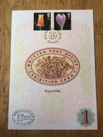 Great Britain 1987, Souvenir Sheet Exhibition Card 1, Flowers, Briefmarkenmesse Essen - 1952-.... (Elizabeth II)